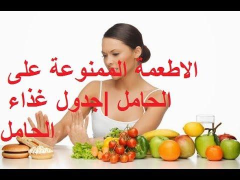 جدول غذاء الحامل في الشهر الاول